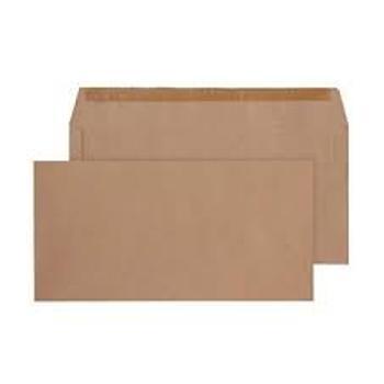 Dl Maxi Opaque No Window Gummed Envelope 500s Manilla
