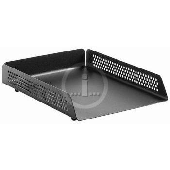 Krost Black Perforated Steel Letter Tray Single