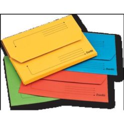 Bantex A4 Document Wallet Smart Folder Pack 10 25mm Gusset Assorted Colours