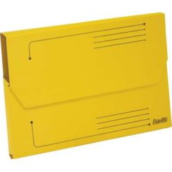 Bantex A4 Document Wallet Smart Folder Pack 10 25mm Gusset Yellow