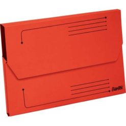 Bantex A4 Document Wallet Smart Folder Pack 10 25mm Gusset Red