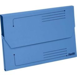 Bantex A4 Document Wallet Smart Folder Pack 10 25mm Gusset Blue