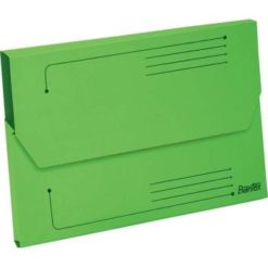 Bantex A4 Document Wallet Smart Folder Pack 10 25mm Gusset Grass Green